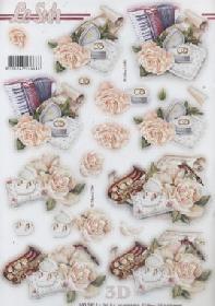 3D Bogen gestanzt Heiraten - Format A4