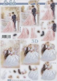 3D Bogen gestanzt Hochzeit - Format A4