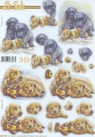 3D Bogen gestanzt Hunde