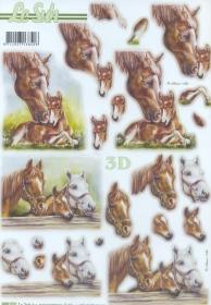 3D Bogen gestanzt Pferde