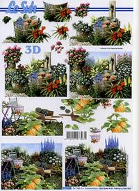 3D Bogen Im Garten - Format A4
