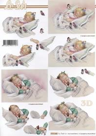 3D Bogen Geburt M?dchen - Format A4
