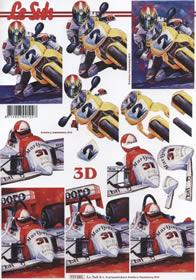 3D Bogen Motorrad,Auto - Format A4