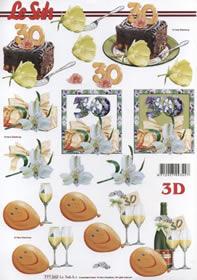 3D Bogen Jubiläum 30 Jahre Format A4 -