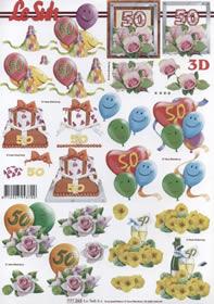 3D Bogen Format A4 50 Jahre Jubiläum