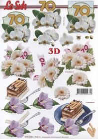 3D Bogen Jubiläum 70 Jahre Format A4 -