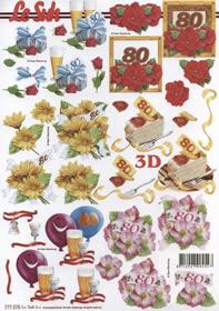 3D Bogen 80. Geburtstag
