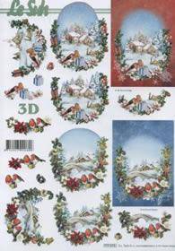 3D Bogen Format A4 - Winterlandschaft