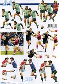 3D Bogen Rugby - Format A4