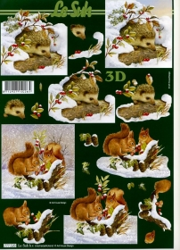 3D Bogen Igel im Schnee - Format A4