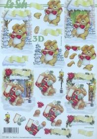3D Bogen Weihnachtshase