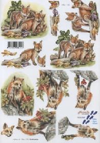 3D Bogen Fuchs - Format A4