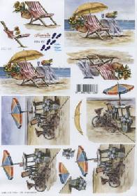 3D Bogen Urlaub am Strand - Format A4