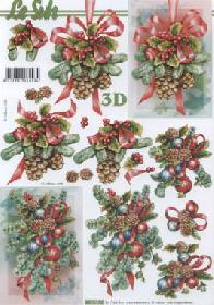 3D Bogen Weihnachts Deko - Format A4