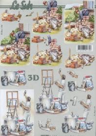 3D Bogen Maler+Maurer - Format A4