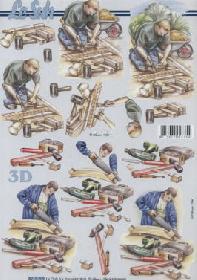 3D Bogen Handwerker - Format A4