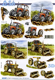 3D Bogen - Landwirtschaftmachinen Format A4