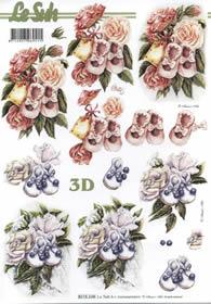 3D Bogen Baby Schuhe - Format A4