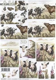 3D Bogen Kühe - Format A4