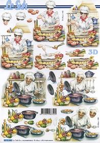 3D Bogen Koch und Kochin - Format A4