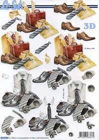 3D Bogen Männersachen - Format A4