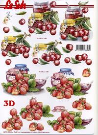 3D Bogen Erdbeer+Kirsch Marmelade - Format A4
