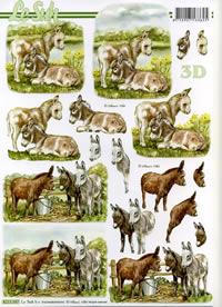 3D Bogen Esel - Format A4