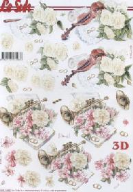 3D Bogen Hochzeit Violine-Trompete - Format A4
