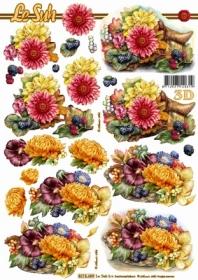 3D Bogen Blumengebinde Format A4 - Format A4