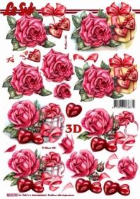 3D Bogen Rosen+Herzen - Format A4