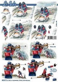 3D Bogen Format A4 - Wintersport - Format A4