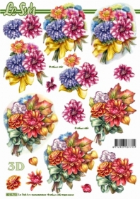 3D Bogen Blumenstrau? - Format A4