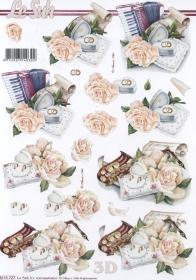 3D Bogen - Musik+Rose Format A4 Format A4