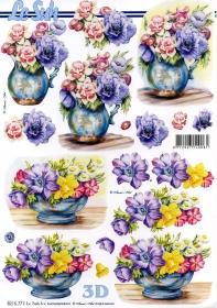 3D Bogen Blumenvase - Format A4