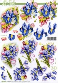 3D Bogen Lilien - Format A4