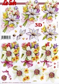 3D Bogen Blumenstrauss - Format A4