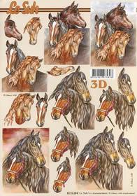 3D Bogen 5 Pferde - Format A4
