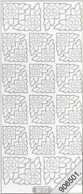 Samt Stickers 10 x 23 cm - beige