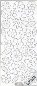 Samt Stickers 10 x 23 cm - weiß