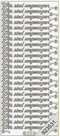 Stickers Text-Sticker - deutsch - gold
