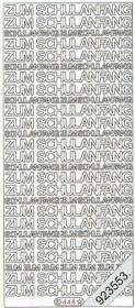 Stickers Zum Schulanfang - gold