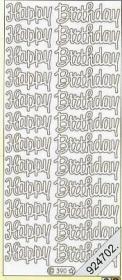 Stickers Happy Birthday - gold