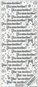 Stickers Text Stickers - english - silber