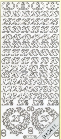 Stickers Figuren / Motive / Zahlen - gold