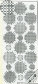 Stickers Ganze-rund weiß - weiß