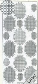 Stickers Vierecke in Oval - hellblau - blau
