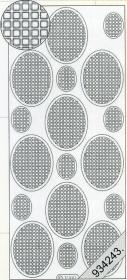 Stickers Vierecke in Oval violett - violett