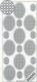 Stickers Vierecke in Oval gelb - gelb