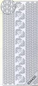 Stickers Bord?ren / Linien - silber