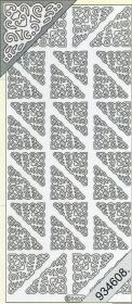 Stickers Ecken - silber